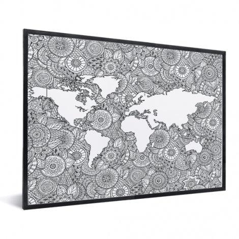 Asiatisch – Schwarz-Weiß im Rahmen