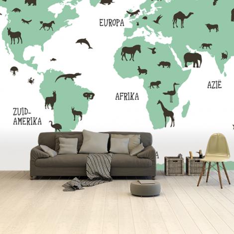 Tiere Grün Tapete