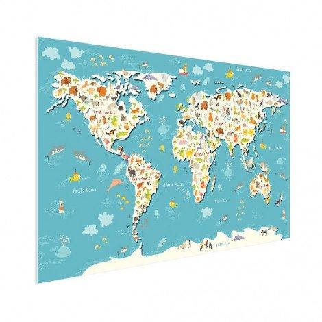 Weltkarte Suchbild Poster