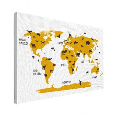 Tiere gelb Leinwand