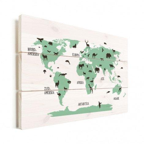Tiere grün Holz