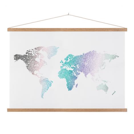 Fingerabdruck Farbig Textilposter