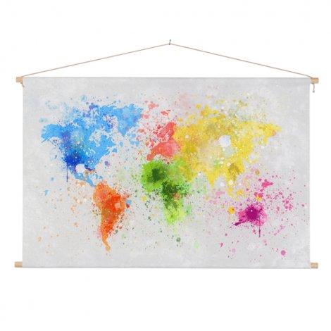 Farbspritzer bunt Textilposter