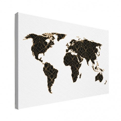 Geometrisch schwarz/gold Leinwand