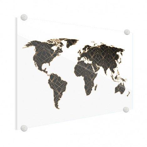 Geometrisch schwarz/gold Acrylglas