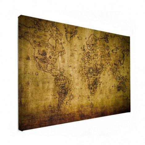 Weltkarte Kompass Leinwand