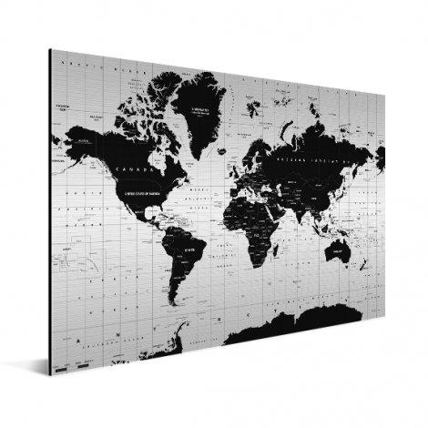 Weltkarte Informativ Aluminium
