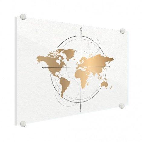 Kompass - groß gold Acrylglas