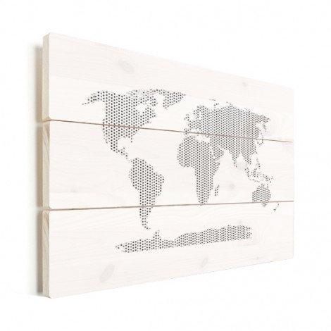 Kreuzmuster schwarz-weiß Holz