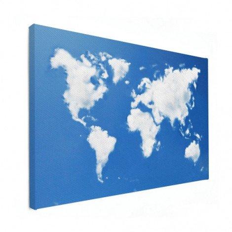 Weltkarte Wolken Leinwand