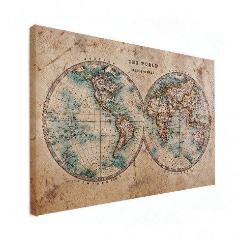 Weltkarte Seefahrt Leinwand