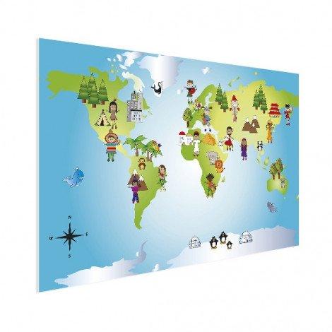 Weltkarte Kleine Freunde Poster