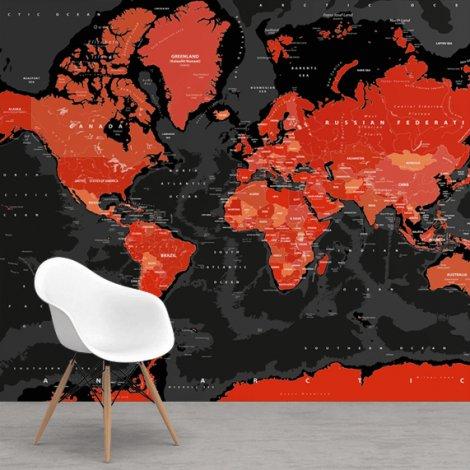 Rot - schwarz Tapete