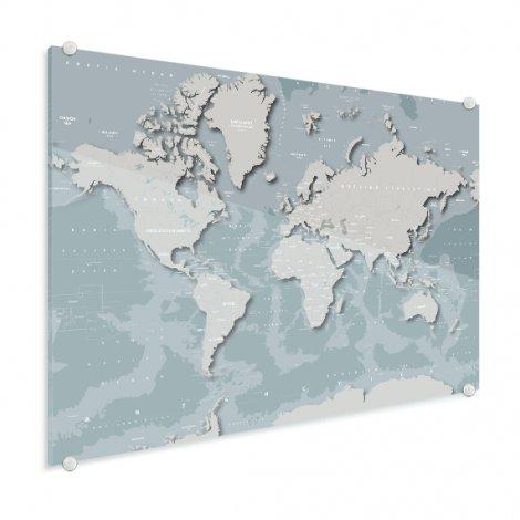 Coole Weltkarte Acrylglas