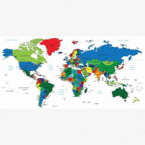 Weltkarte alle Länder Poster