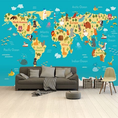 Kontinente und Meere Tapete