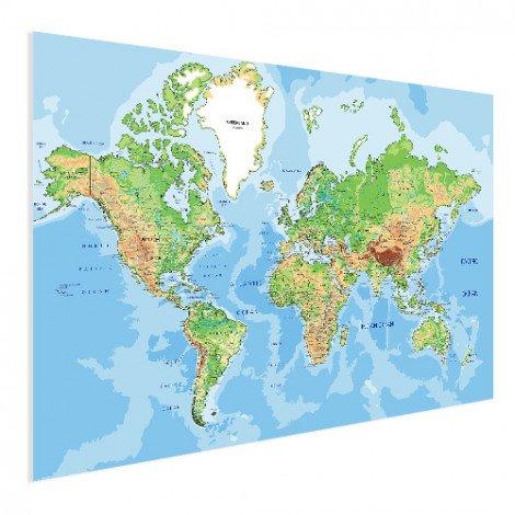 Weltkarte Geografisch Poster