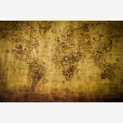 Weltkarte Kompass Poster