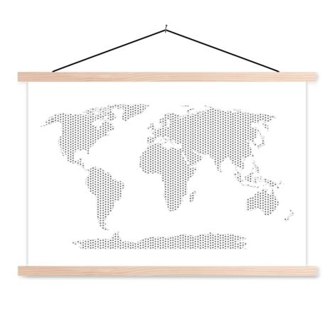 Kreuzmuster schwarz-weiß Textilposter