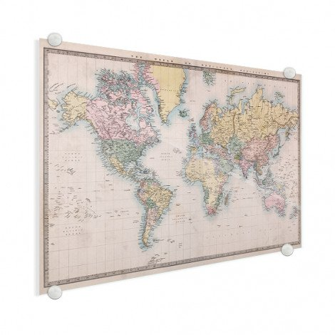 Weltkarte Realistisch Acrylglas