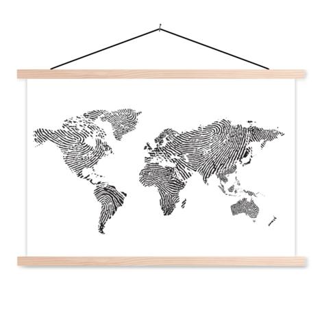 Fingerabdruck Schwarz-Weiß Textilposter