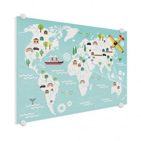 Weltkarte Technisch Acrylglas