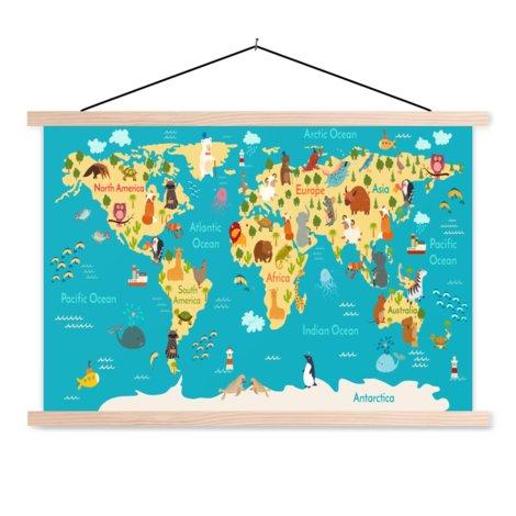Kontinente & Meere Textilposter