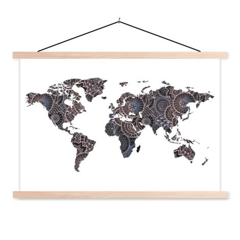 Asiatisch - Schwarz / Rosa Textilposter