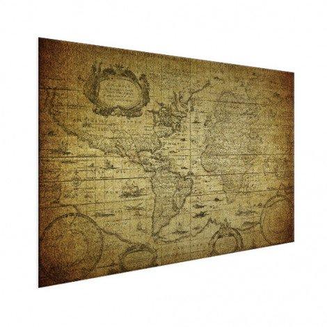 Weltkarte Illustration Aluminium