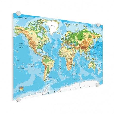 Weltkarte Klassisch Acrylglas