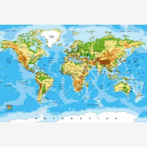 Weltkarte Klassisch Poster