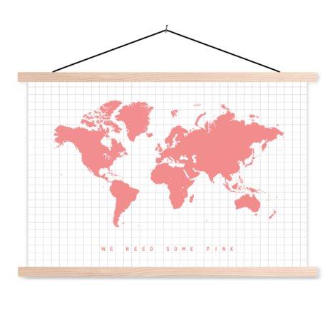 Rosa Textilposter