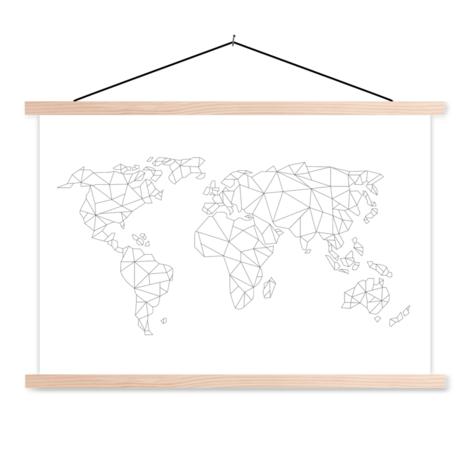 Geometrische Linien Textilposter