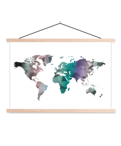 Geometrische Farbe Textilposter