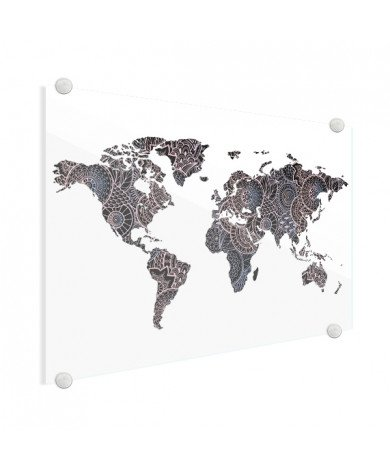 Asiatisch - Schwarz / Rosa Acrylglas