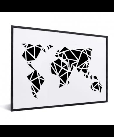 Geometrisch – Schwarz im Rahmen