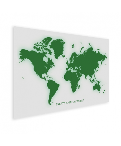 Weltkarte Grün Poster