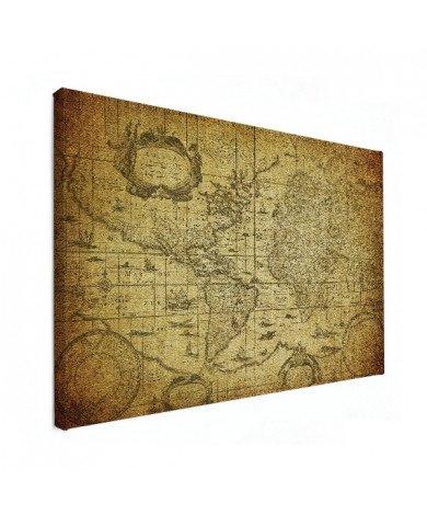 Weltkarte Illustration Leinwand