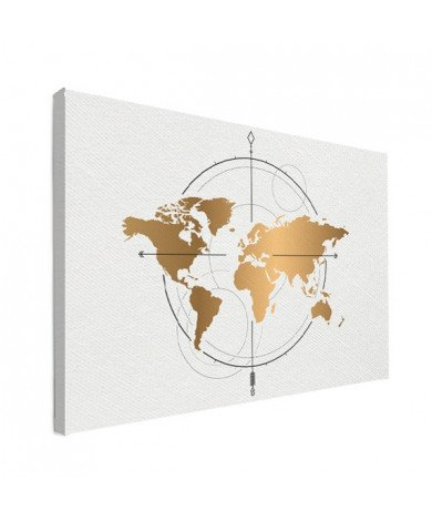 Kompass - groß gold Leinwand