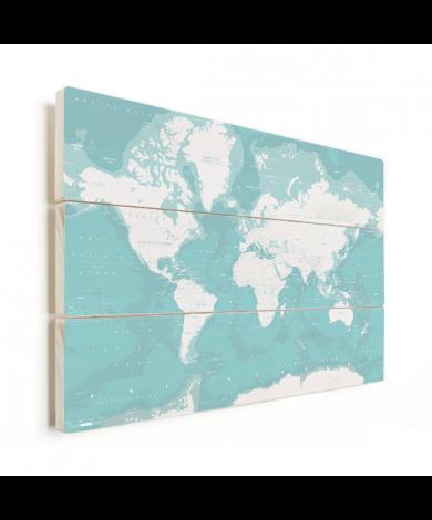 Ozeane Weltkarte Holz