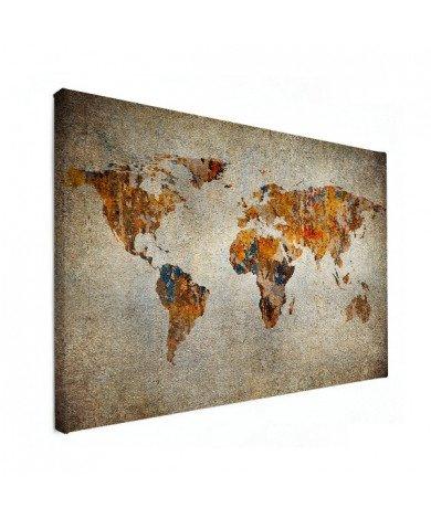 Weltkarte Malerei auf Stein Leinwand
