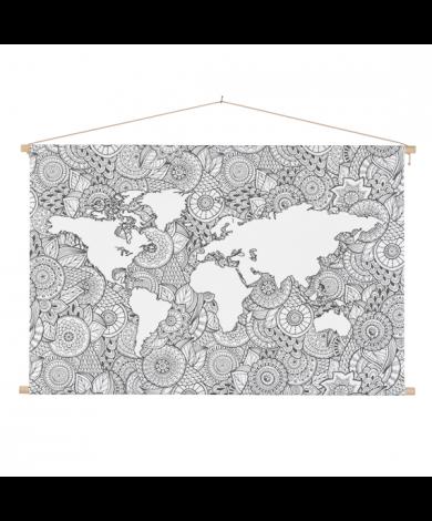 Asiatisch - schwarz-weiß Textilposter