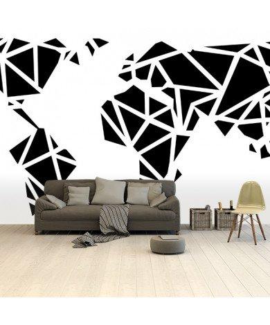 Geometrische Schwarz Tapete