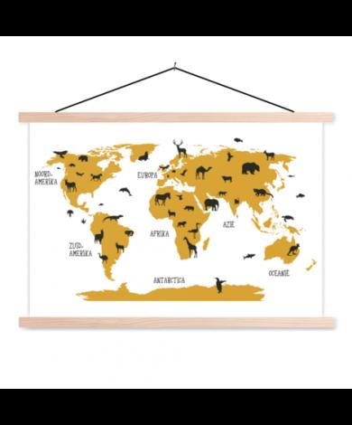 Tiere Gelb Textilposter