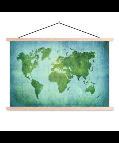 Pergament Kräftig Grün Textilposter