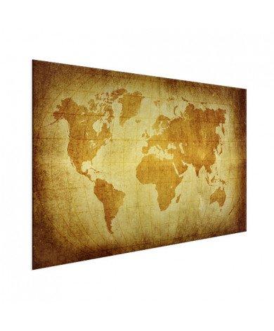 Weltkarte Pergament Aluminium