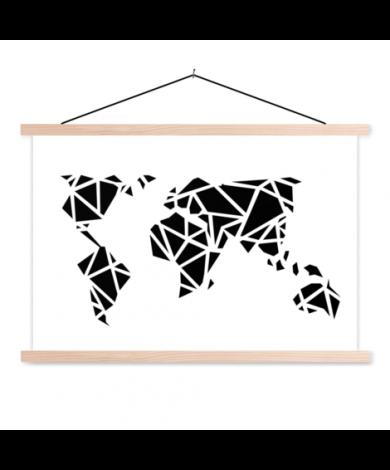 Geometrische Schwarz Textilposter